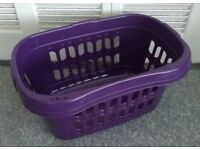 Wham Purple washing baskets and tablecloths