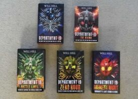 DEPARTMENT 19 SERIES BOOKS X 5 BY WILL HILL - 4 HARDBACK & 1 PAPERBACK BOOKS IN EXCELLENT CONDITION
