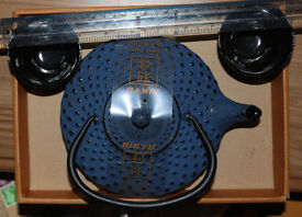 Rikyu cast iron tea kettle with 2 same made cups. New, unused in original package and user's guide