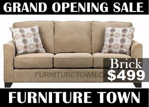 Grand opening sale. Brick sofa only $499