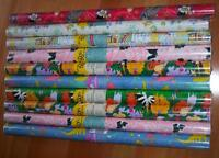 10 rolls vintage American Greetings Wrapping Paper Gift Wrap