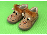 New Baby kids funny shoes slippers brown bear size 7