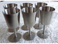 Vintage Old Hall Stainless Steel Goblets