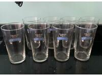 Set of 8 Bombardier pint glasses
