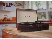Bush Classic Suitcase Turntable - Record Player - Brown