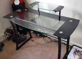 Glass Computer PC Desk