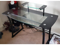Glass Computer PC Desk