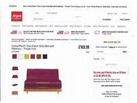 purple futon