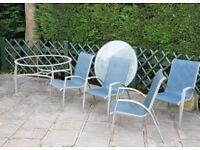 1metre circular glass garden table