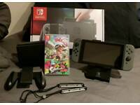Nintendo Switch 32GB Grey Console Boxed + Splatoon 2 and Stand