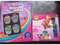 Sequin cupcake picture maker and fairy painting set