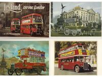 FOUR - MAYFAIR OF LONDON POSTCARDS - LONDON BUSES - MINT CONDITION - ONLY £0.50p EACH