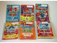 Over 1,100 Match Attax cards in six albums. Cards may not relate to the dates on the albums.