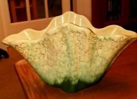 Beswick Green Mottled Vase