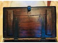 Victorian Antique Oak Blanket Box