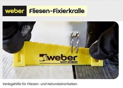 20 Stück weber Fliesen-Fixierkralle Verlegehilfe Nivelliersystem für Fliesen