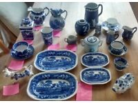 Blue and White China - Wade, Spode, Delft, Allertons