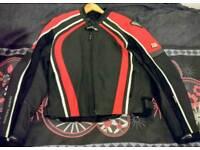Worn once Frank Thomas Leather motorbike jacket