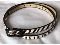 Women's Nine West Genuine Leather Belt