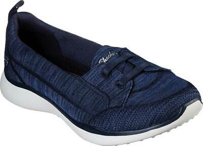 NEW Womens SKECHERS Microburst 2.0 Best Ever Navy KNIT FABRIC Slip On