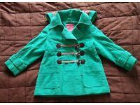 Brand new girl Next turquoise duffel coat age 3-4 years