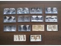 vintage ( circa 1900s ) stereoscopic photographs ' fourteen in total