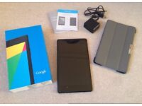 ASUS Google NEXUS 7 (2013) 16GB Tablet excellent condition and complete with box charger Free Case