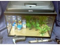 Aquarium outfit - Aquael 40 litre complete with accessories