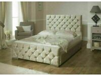 💖🔴AMAZING OFFER🔵💖CHESTERFIELD BED IN DOUBLE/KING SIZE FRAME WITH OPTIONAL MATTRESS-