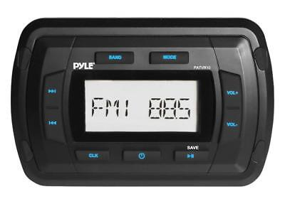 Pyle Marine Bluetooth Radio Receiver - Water Resistant Stereo Headunit, USB/AUX