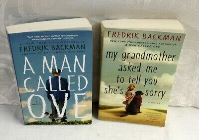 LOT OF 2 PB - FREDRIK BACKMAN - MAN CALLED OVE  & MY GRANDMOTHER ASKED ME - VG