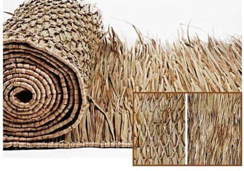 "** Tiki Thatch Palapa Bar Resort Grade Grass Roll Thatching Luau Skirt 35"" x 8ft"