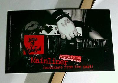 SOCIAL DISTORTION MAINLINER WRECKAGE FROM THE PAST GUITAR BOARD CASE STICKER