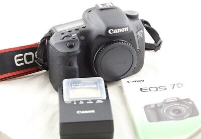 Shutter only 17K! Free ship! Canon EOS 7D 18.0MP Digital SLR Camera with extras