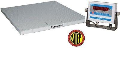 5000 Lb X1 Lbs Salter Dsb-4848-05 Ntep 4 X 4 Floor Scale Sbi-505 Indicatornew