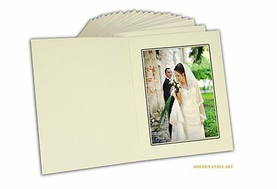 Set Of 50 Cardboard Photo Folder For A 5x7 Photo-ivory Color