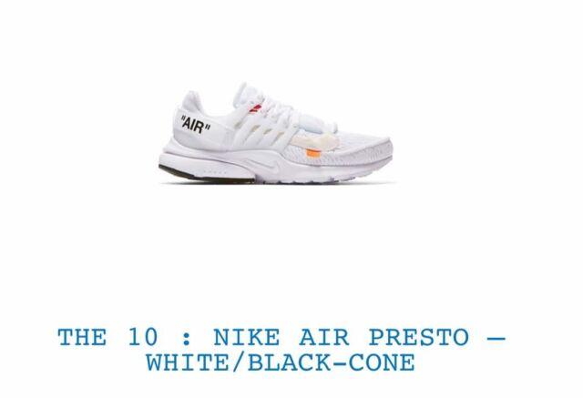 230102ef2898d5 Nike Air Presto Off White Size US10