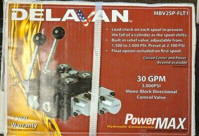 Delavan Powermax 30 Gpm Mbv2sp-flt1 - Mono-block Directional Control Valve - Cr