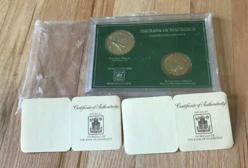 1975 Mauritius 25 and 50 Rupees Uncirculated Silver Coin Set