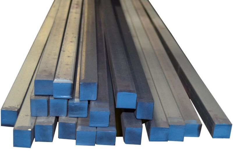 "4 Pieces - 1"" x 1"" x 12"" A36 Prime New Hot Rolled Steel Square Bar Ships UPS"
