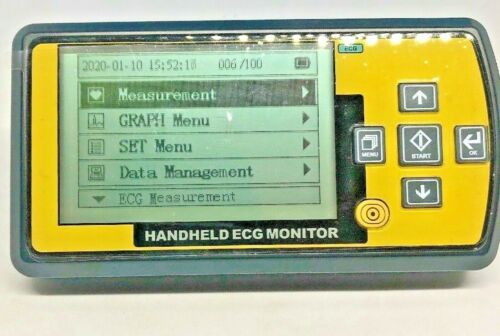Handheld Chest/ Limb/ Hand ECG Heart Monitor W/cables, leads, and clamps