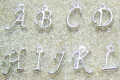 A-Z Charms Wholesale Initial 3,5,10 pc Alphabet Letter Silver Plated Lot - Wholesale Charms