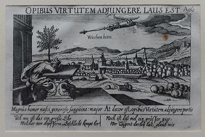 Wachenheim - Originaler Kupferstich aus Meissners Schatzkästlein, um 1630