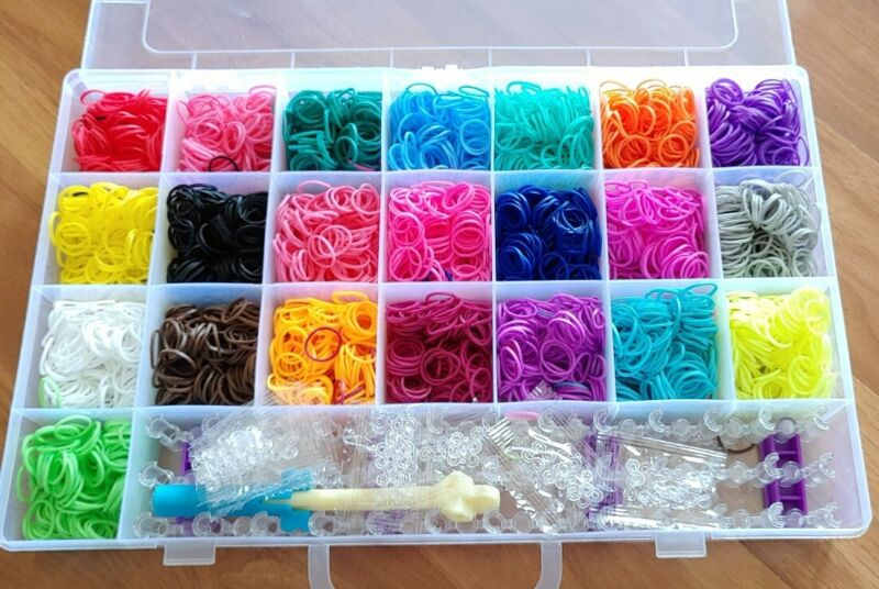 New Colorful Rubber Band Bracelet Loom Refill Kit Fun DIY for Kids