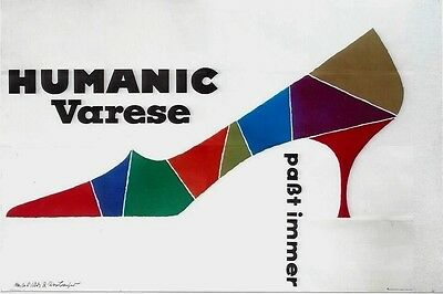 Original vintage poster VARESE ITALY SHOE FASHION c.1960