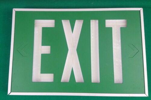 Isolite Self Luminous green one sided  Exit Sign replace before mar 2035