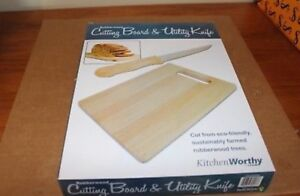 Brand new cutting board and knife set