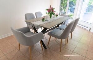 Solid Acacia Table & Dining Chairs NEW in box