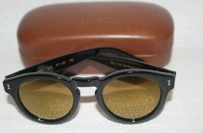 Illesteva For JCrew Leonard Sunglasses in Black  mirrored lenses E4462 $177