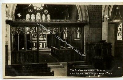 (Le4328-477) RP, The Seaton Memorial Screen & Pulpit,  1915  Used G-VG